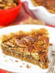 Classic Pecan Pie slice
