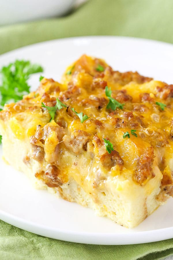 Sausage And Egg Breakfast Casserole Recipe Life Love And Sugar