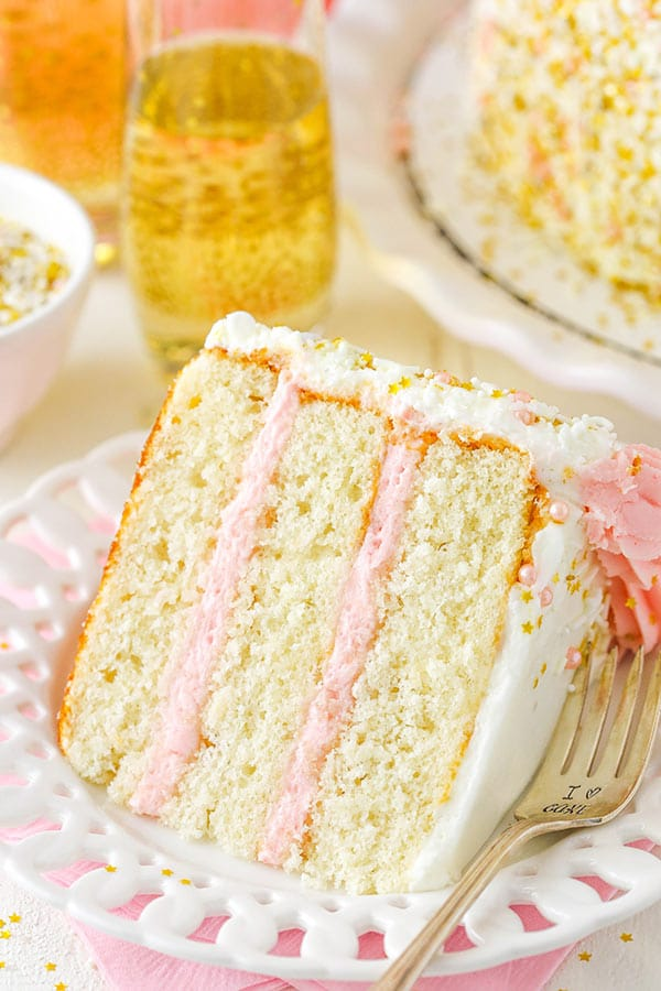 Strawberry Champagne Layer Cake recipe