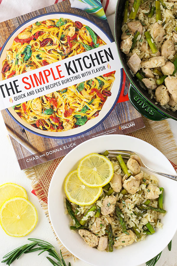 Lemon Rosemary Chicken and Rice -with The Simple Kitchen recipe book