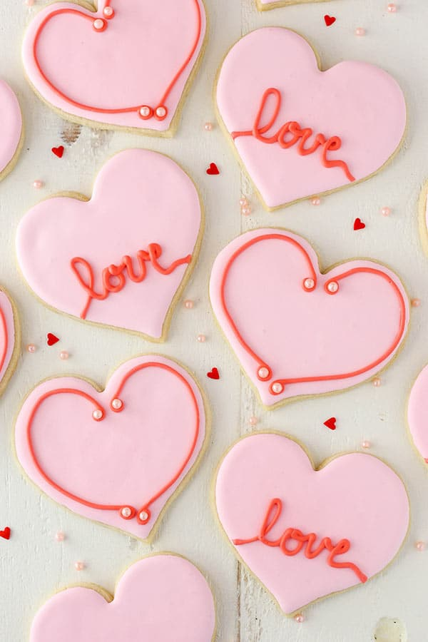 Valentine's Day Heart Cutout Cookies