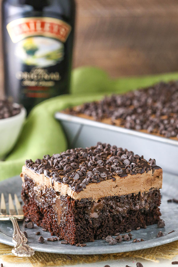 Baileys Chocolate Poke Cake recipe