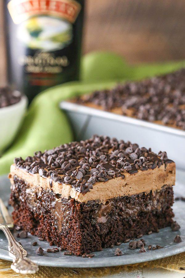Baileys Chocolate Poke Cake