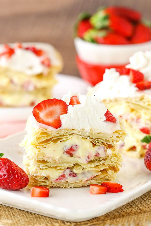 Strawberry Napoleon - a class, fresh, fruity dessert perfect for any occasion!