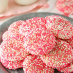 Strawberry Sprinkle Cookies