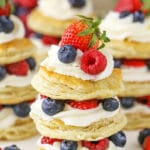 "Mini Berries and Cream Puff Pastry ""Cakes"""