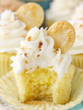 inside image of Coconut Cream Pie Cupcakes