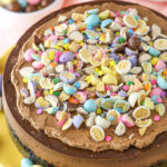 overhead image of Malted Easter Egg Chocolate Cheesecake