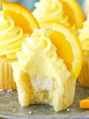 image of inside of Orange Cream Cupcakes