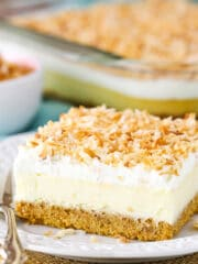 close up image of Easy Coconut Cheesecake