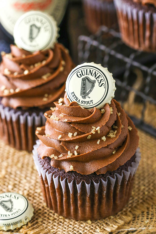Easy Guinness Chocolate Cupcakes recipe