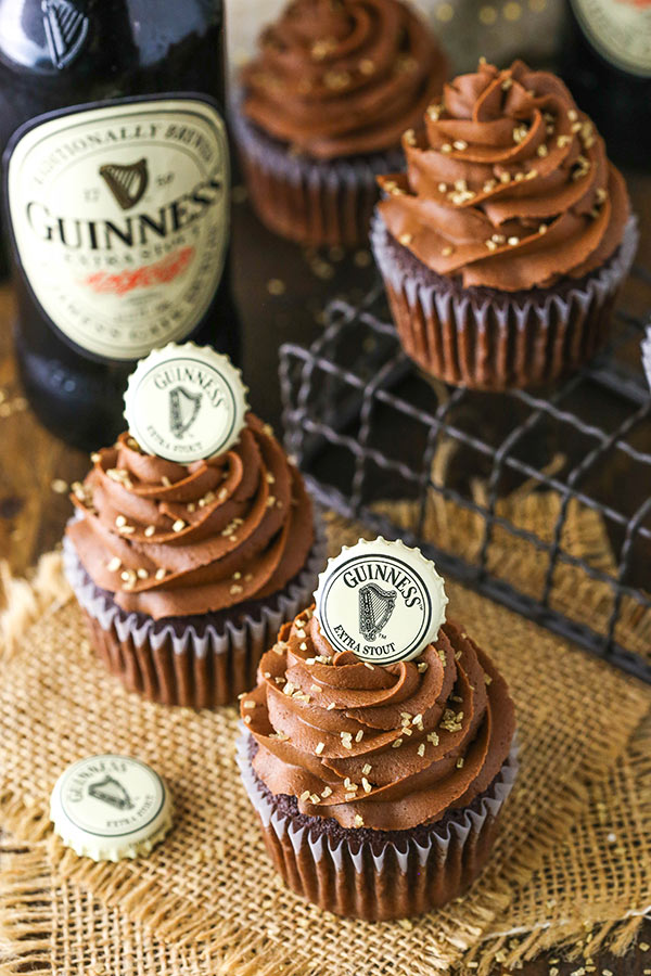 Favorite Guinness Chocolate Cupcakes