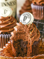 image of inside of Guinness Chocolate Cupcakes