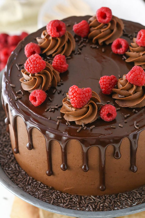 Chocolate Raspberry Ganache Cake Recipe