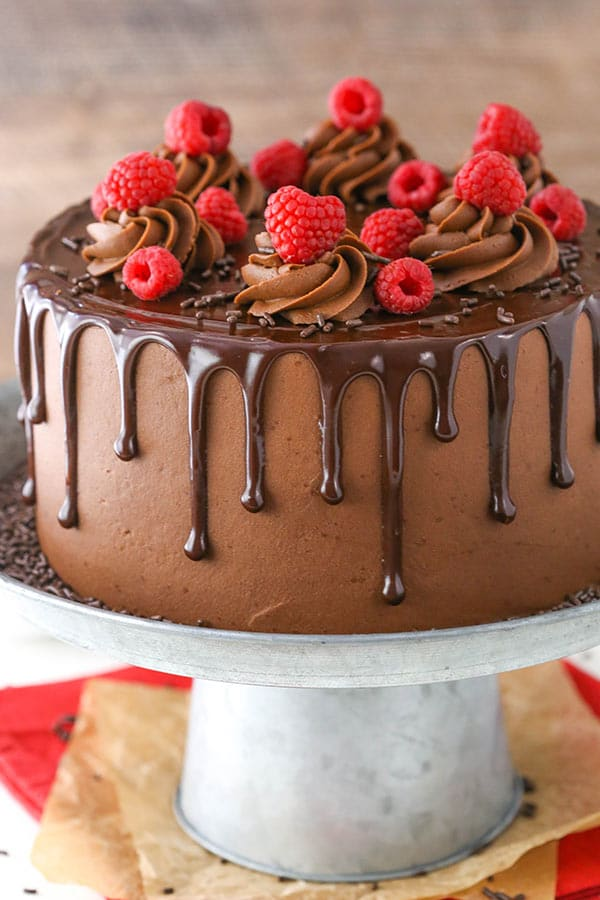 Raspberry Chocolate Layer Cake recipe