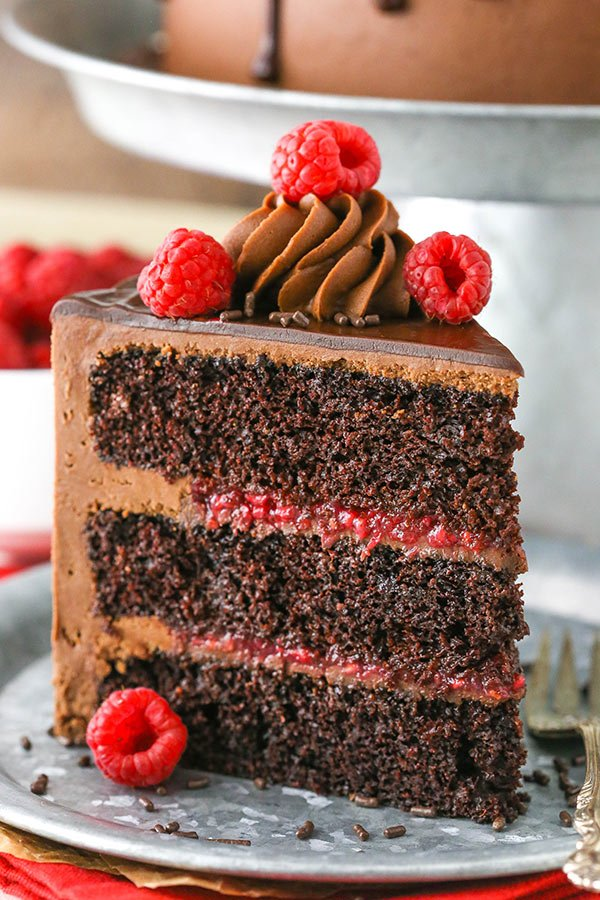 Raspberry Chocolate Layer Cake