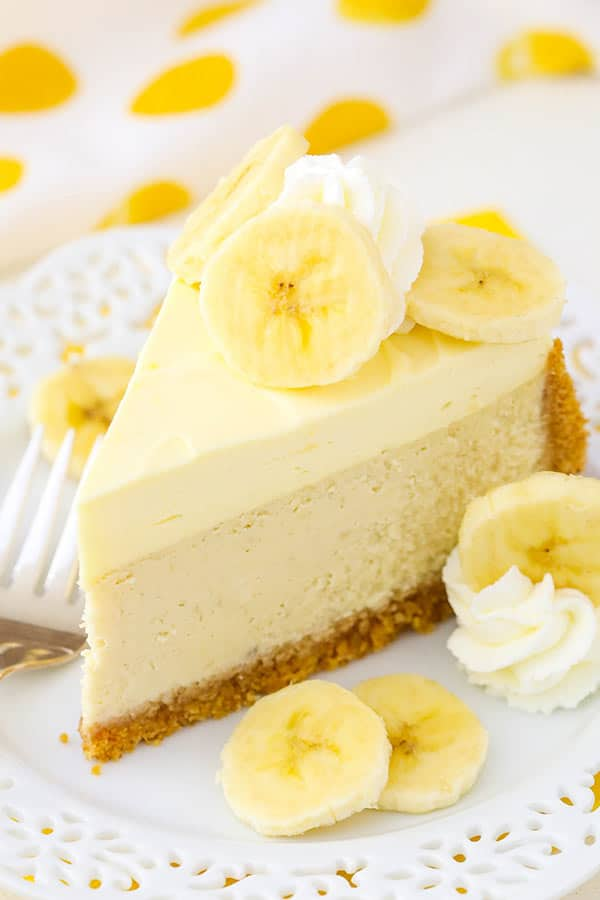 Banana Cream Cheesecake slice