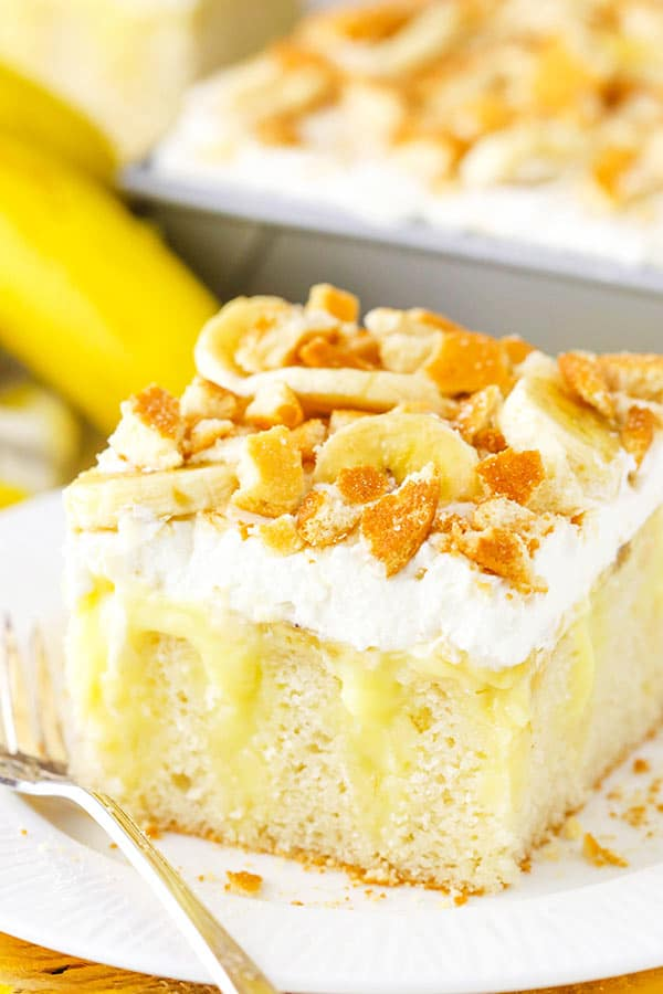 Banana Pudding Poke Cake Recipe Easy Vanilla Cake