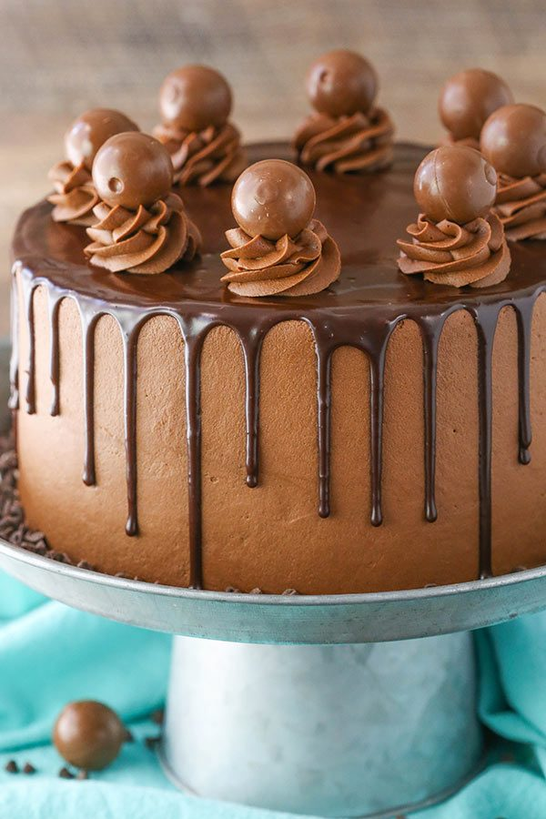 drunken chocolate truffle cake