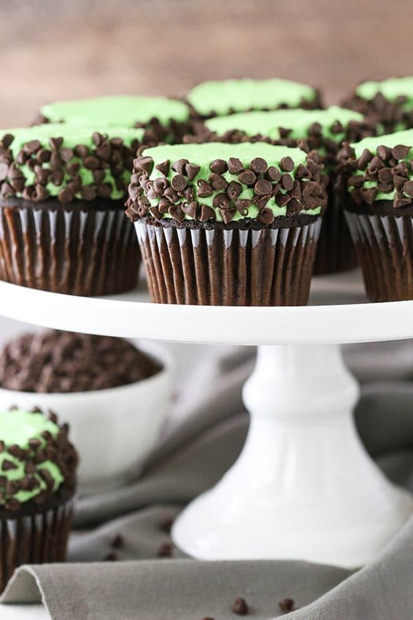 Homemade Mint Chocolate Chip Cupcakes recipe