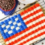 Flag Chocolate Chip Cookie Cake
