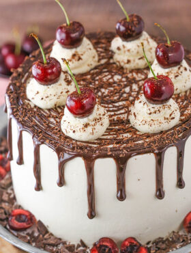 overhead image of Black Forest Cake