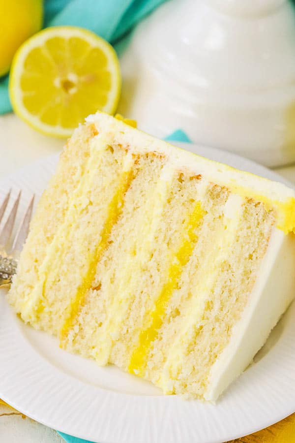 Lemon Cake With Lemon Bavarian Cream Easy Lemon Cake Recipe