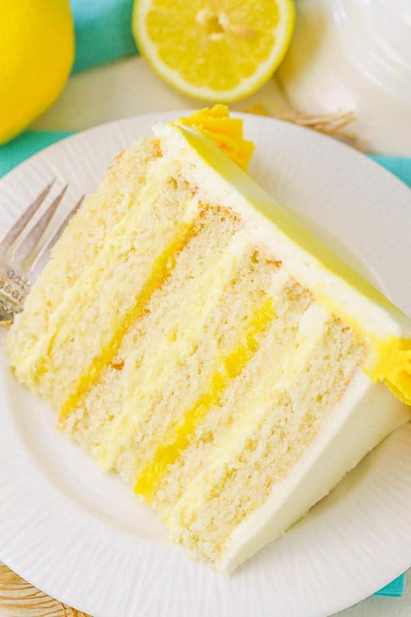 Best Lemon Bavarian Cake