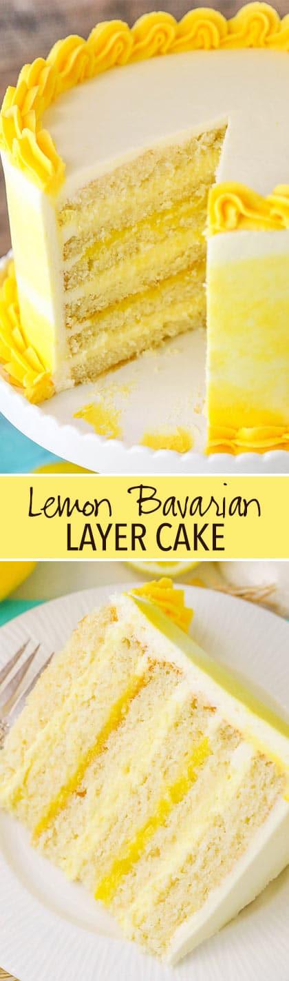 Lemon Bavarian Cake collage