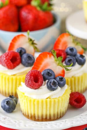 image of Mini Cheesecakes on plate