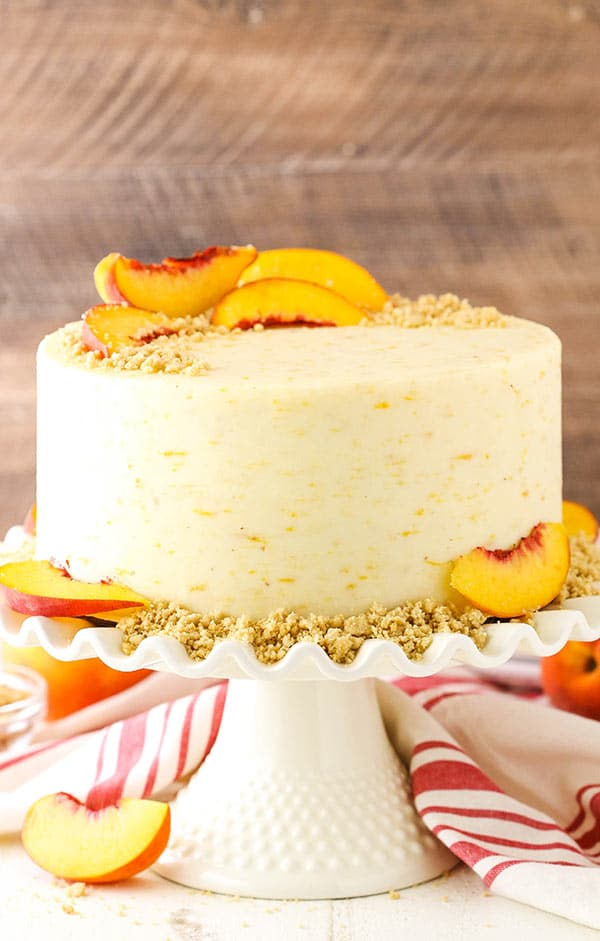 Brown Sugar Layer Cake with Peach Filling recipe