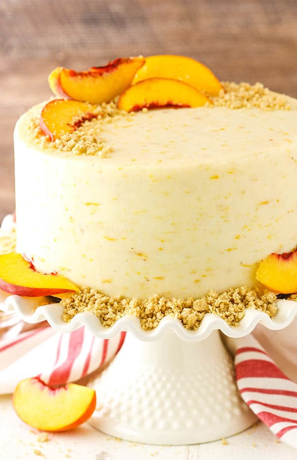 Favorite Brown Sugar Layer Cake with Peach Filling