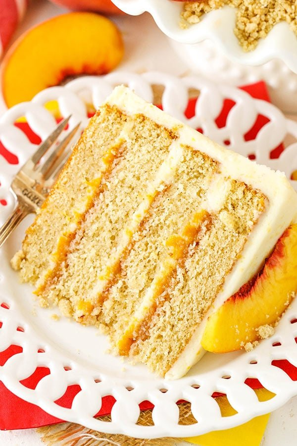 Brown Sugar Layer Cake with Peach Filling