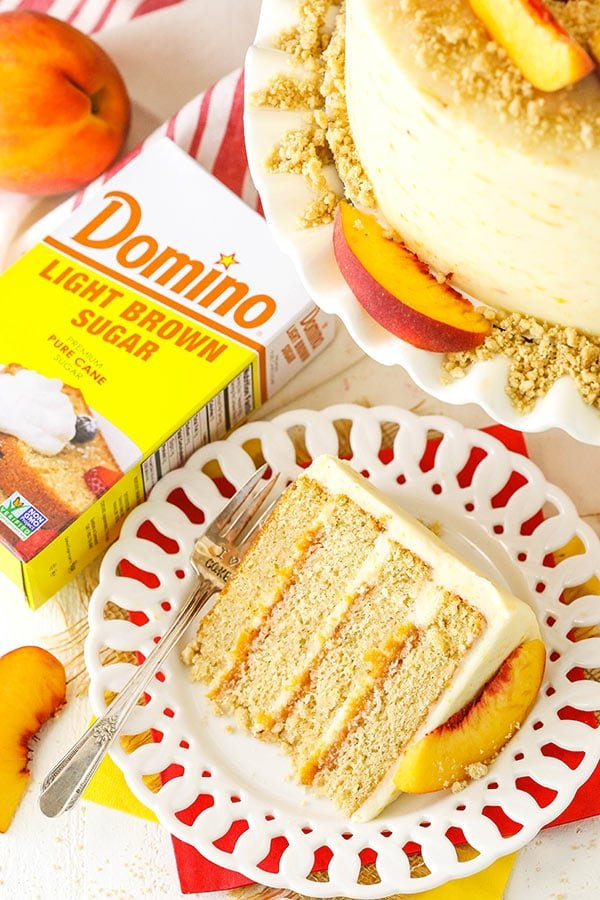 Best Brown Sugar Layer Cake with Peach Filling recipe