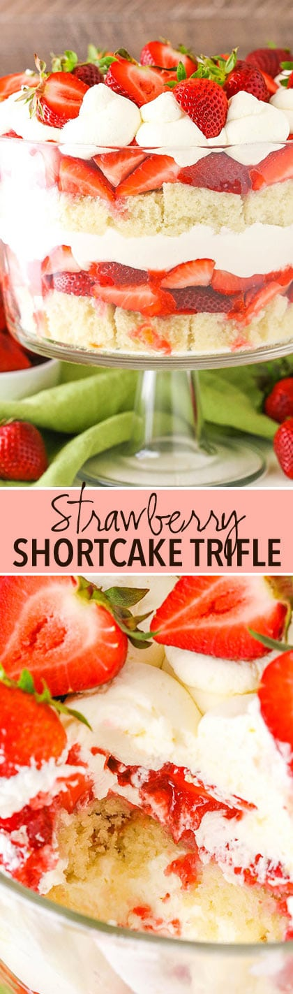 Strawberry Shortcake Trifle collage