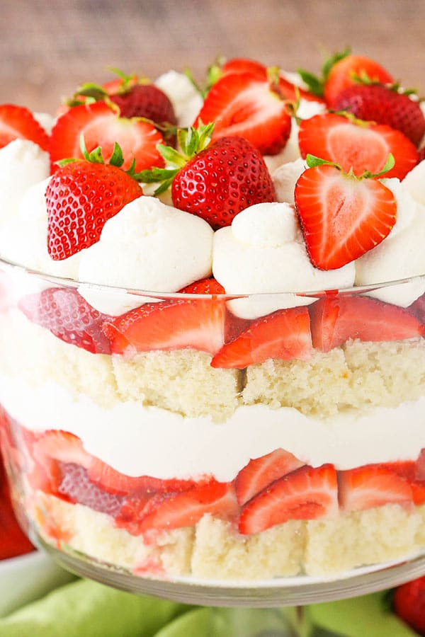 Best Strawberry Shortcake Trifle