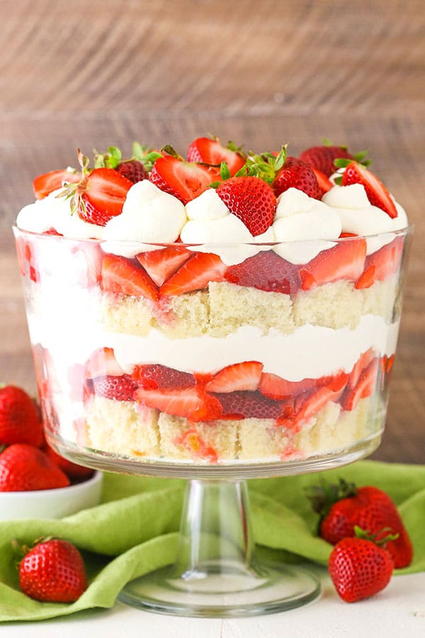 Simple Strawberry Shortcake Trifle