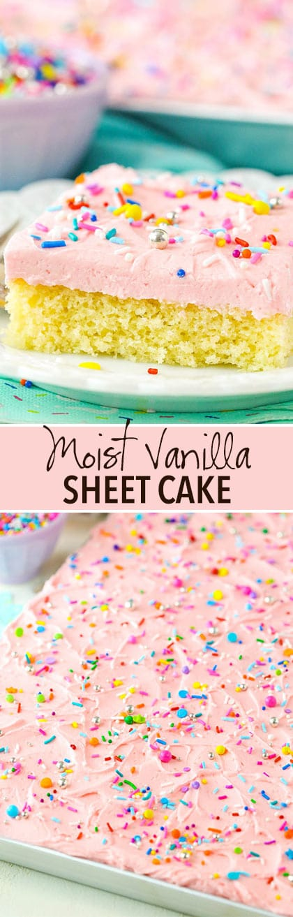 Vanilla Sheet Cake collage