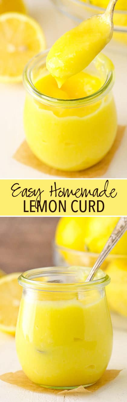 This lemon curd is such an easy thing to make and delicious on just about everything! It's sweet, tart and so much better when it's homemade!