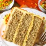 Spice Cake with Pumpkin Mascarpone Buttercream