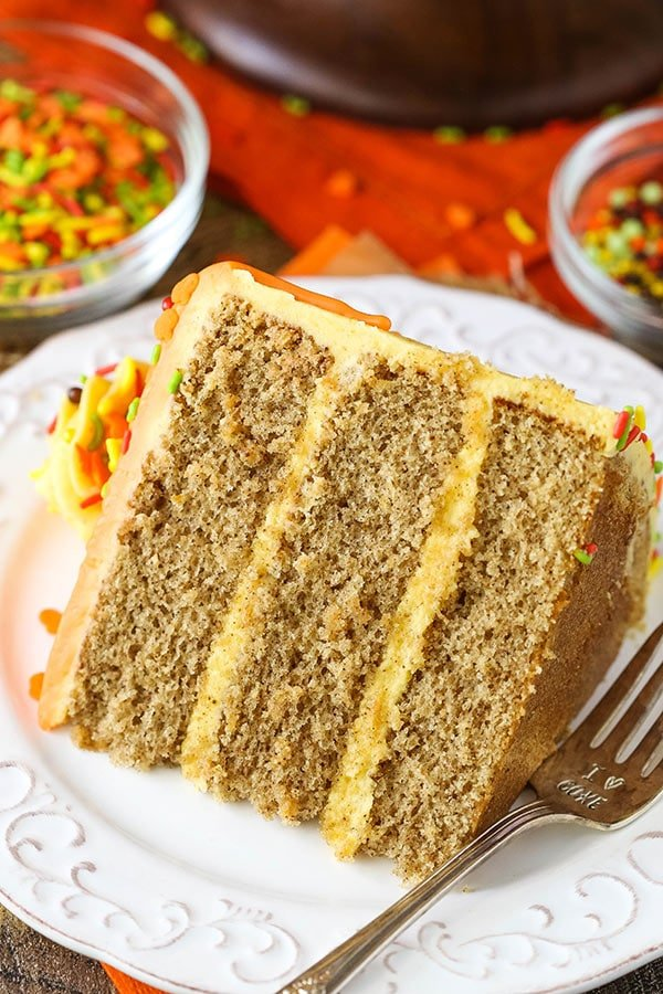Spice Cake with Pumpkin Mascarpone Buttercream