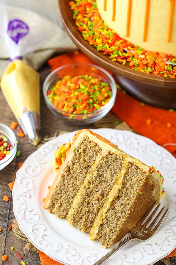 Best Spice Cake with Pumpkin Mascarpone Buttercream
