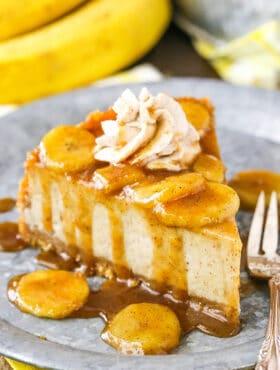 Image of Bananas Foster Cheesecake Recipe | AMAZING Cheesecake Recipe
