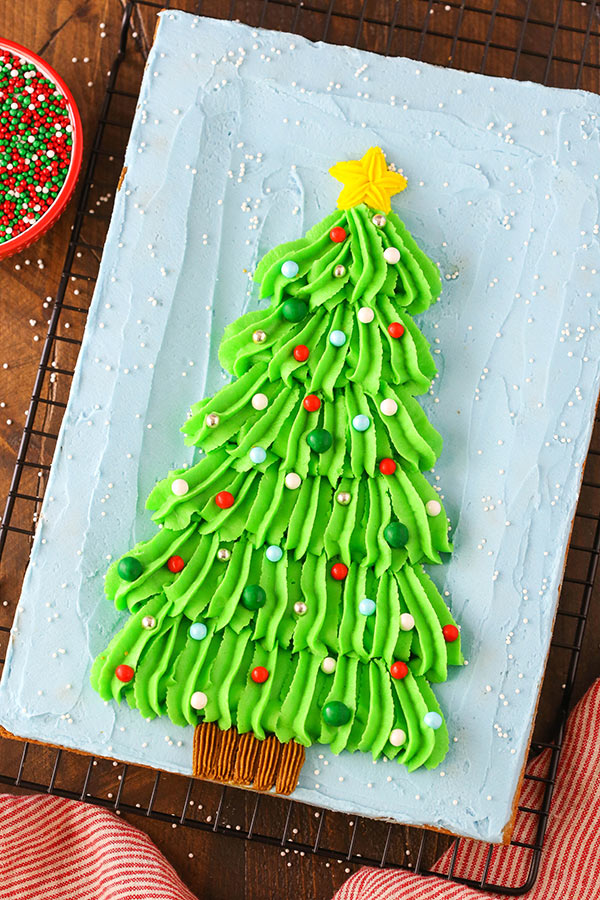Decorated Christmas Tree Chocolate Chip cookie cake