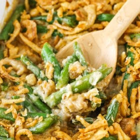 Classic Green Bean Casserole with cheese!