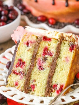 image of Cranberry Fudge Layer Cake