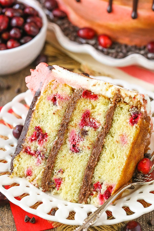 Cranberry Fudge Layer Cake recipe