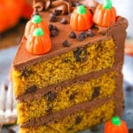 Pumpkin Chocolate Chip Layer Cake
