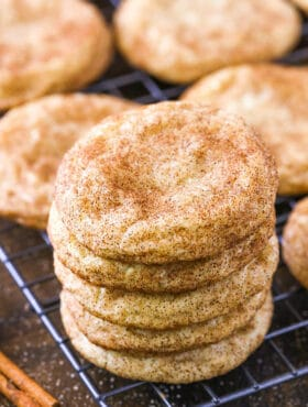 close up image of Classic Chewy Snickerdoodles