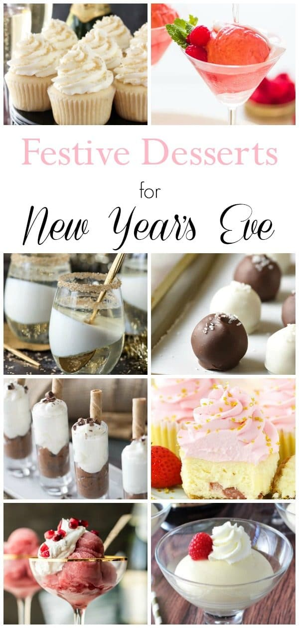 new year's eve dessert photo collage